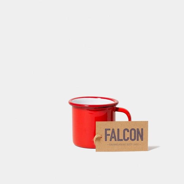 Červený smaltovaný šálek na espresso Falcon Enamelware, 160 ml