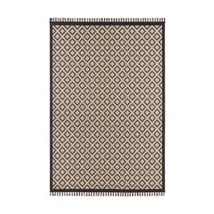 Béžovočerný koberec Hanse Home Intense Muro, 80 x 150 cm