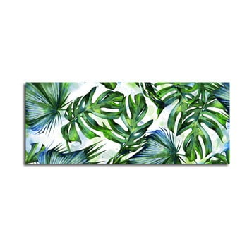 Tablou Styler Canvas Greenery Tropical, 60 x 150 cm