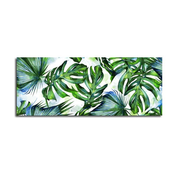 Canvas Greenery Tropical kép, 60 x 150 cm - Styler