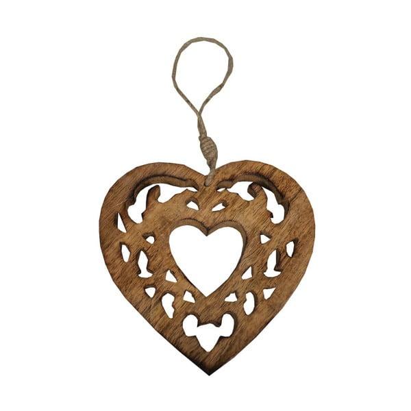 Wood felakasztható faragott szív - Antic Line