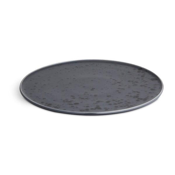 Modrý kameninový tanier Kähler Design Ombria, ⌀ 27 cm