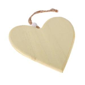 Žlutá dřevěná závěsná dekorace Dakls So Cute Heart