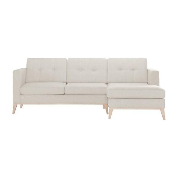 Canapea cu șezlong pe partea dreaptă Stella Cadente Maison Recipe, crem