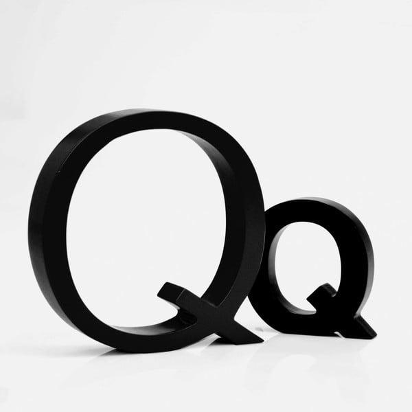 "Velké ""Q"" 13x13 cm, černá"