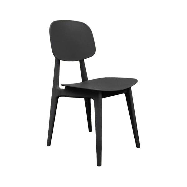 Czarne krzesło Leitmotiv Vintage