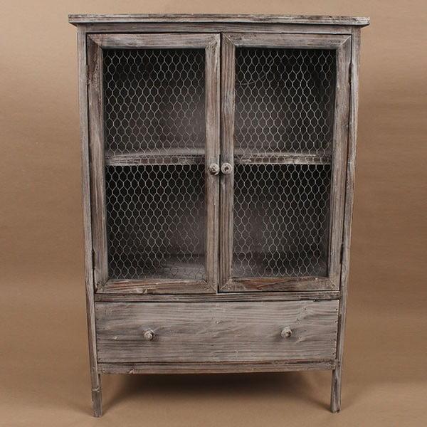 Dřevěná skříňka Grey Days, 60x89 cm