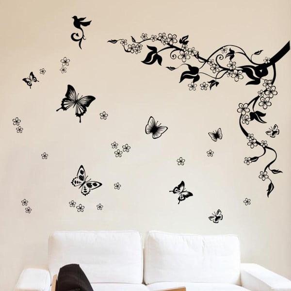 Samolepka na stěnu Hejno motýlků