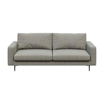 Canapea cu 3 locuri devichy Levie, gri deschis