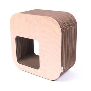 Přírodní kartonový sedák Kartoons Roundshelf, 45x45cm
