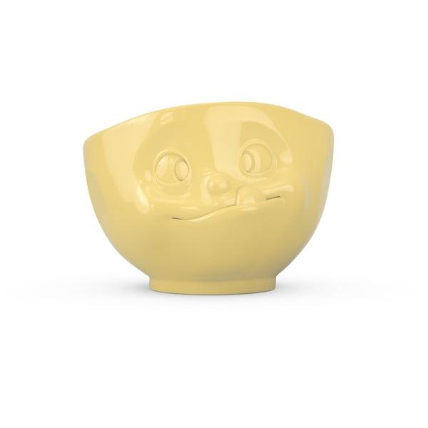 Sárga 'huncut' porcelán tálka - 58products