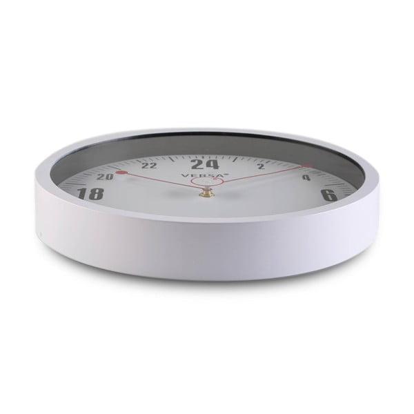 Bílé kulaté nástěnné hodiny Versa Paola, ø30cm