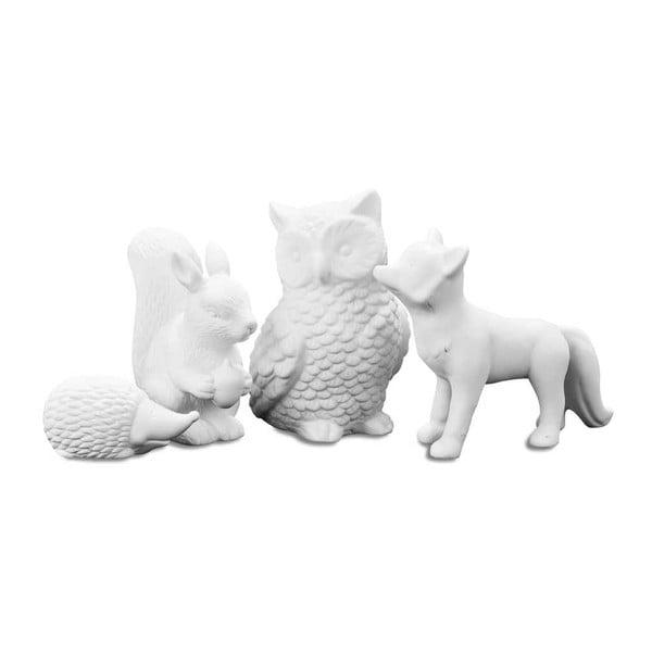Sada 4 dekorativních zvířátek Forest Animal