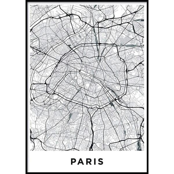 Nástěnný obraz MAP/PARIS/NO2, 50x70cm