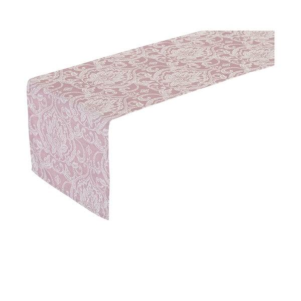 Růžový běhoun na stůl Unimasa Vintage, 150 x 45 cm
