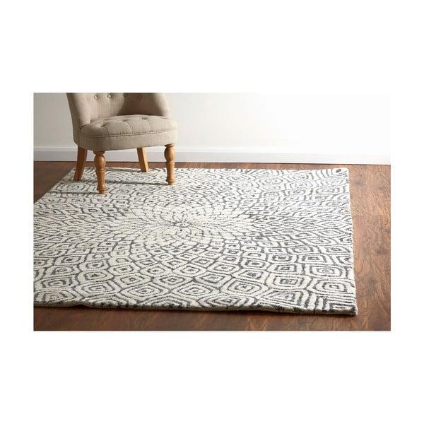 Vyšívaný koberec Kaleido Print, 170x240 cm, šedý