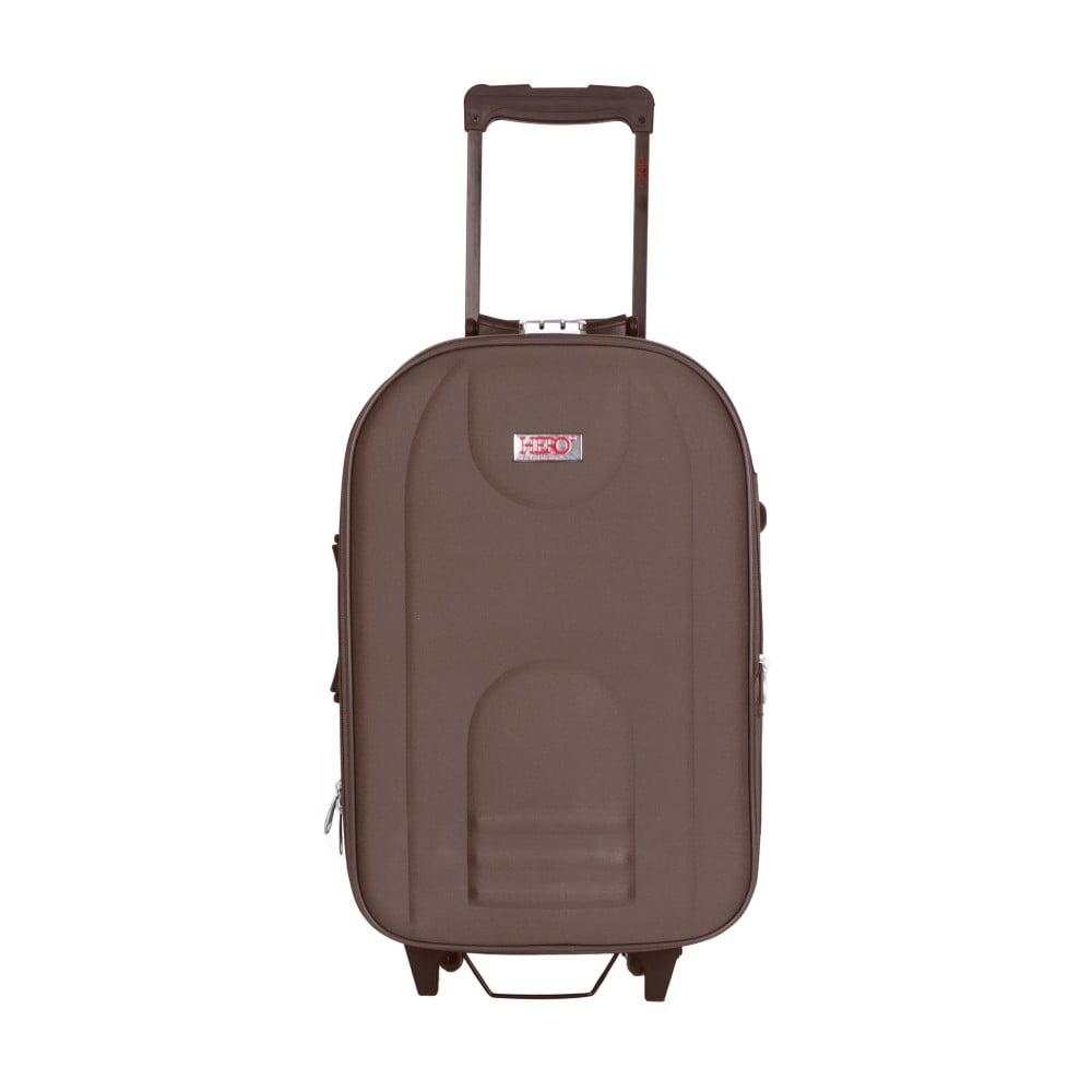 Hnědý kufr na kolečkách Hero Airplane, 62 l