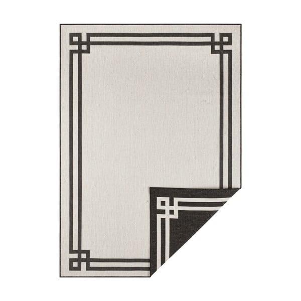 Czarno-kremowy dywan odpowiedni na zewnątrz Bougari Manito, 200x290 cm