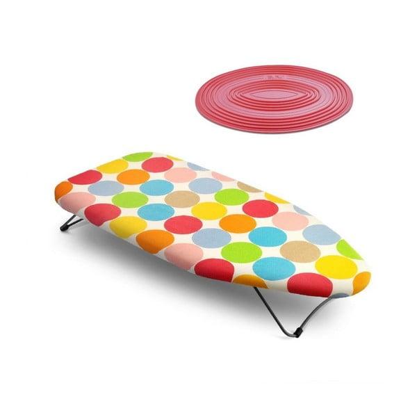 Set stolního žehlícího prkna a termopodložky Mini Dots
