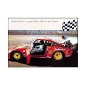 Plakát Paul Newman Im Porsche, 70x50 cm