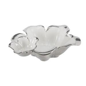 Bílostříbrná dekorativní keramická miska Mauro Ferretti Tasche Lily A