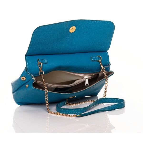 Kožená kabelka Envelope Turquoise