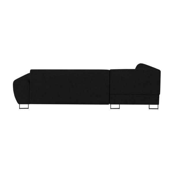 Canapea extensibilă cu spațiu pentru depozitare Kooko Home XL Right Corner Sofa Piano,negru