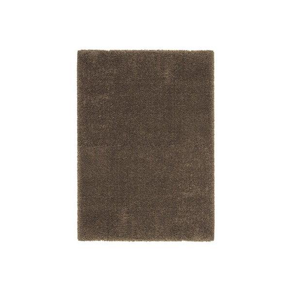 Koberec Super Shaggy 80x150 cm s 5 cm dlouhým vlasem, hnědý
