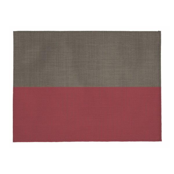 Suport pentru farfurie Tiseco Home Studio Stripe, 33x45cm, bej - roșu