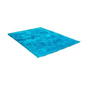 Modrý koberec s příměsí bavlny Cotex Donare, 90 x 160 cm