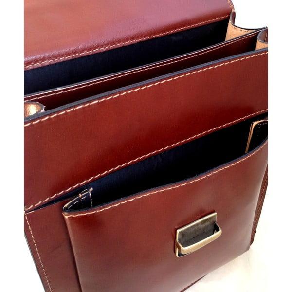 Kožený kufřík Barolo, tmavě hnědý