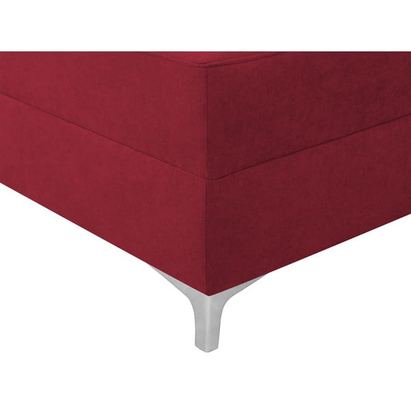 Červená rozkládací rohová pohovka Windsor & Co Sofas Zeta, levý roh