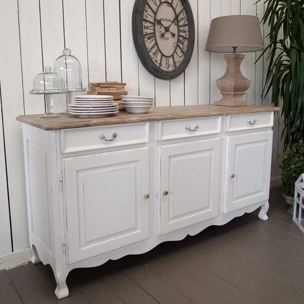 Komoda Shabby Natural and White