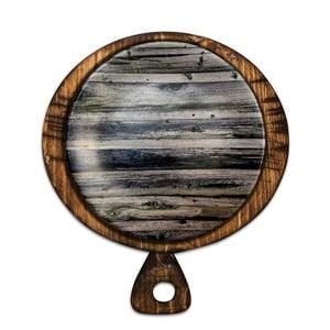 Keramický talíř s uchem Wood, ⌀25cm