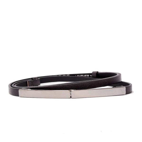 Nastavitelný kožený pásek Etro černý, 72 až 108 cm