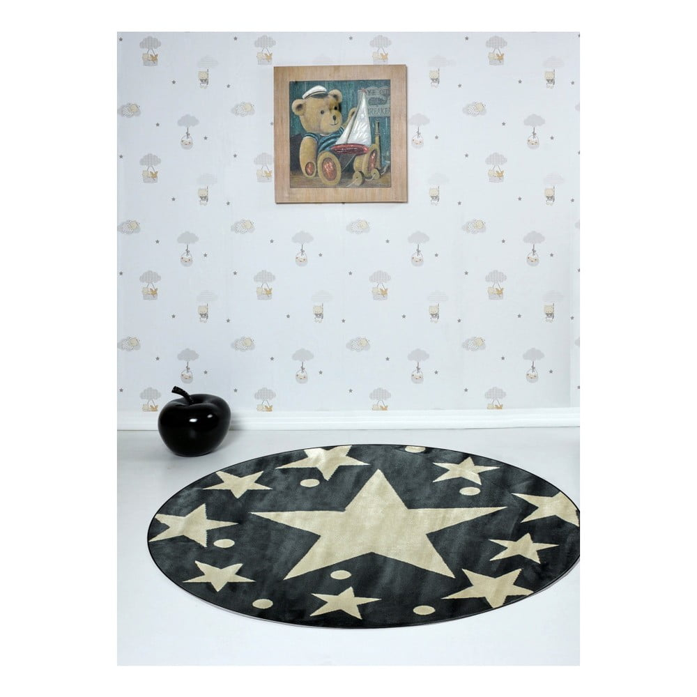1288617ae7aa7 Dětský koberec Stars Sky Gris, ⌀ 150 cm