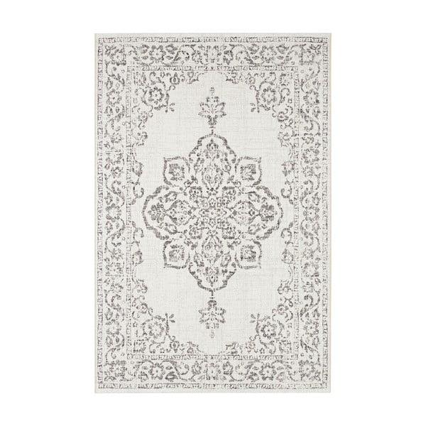 Šedo-krémový venkovní koberec Bougari Tilos, 80 x 150 cm