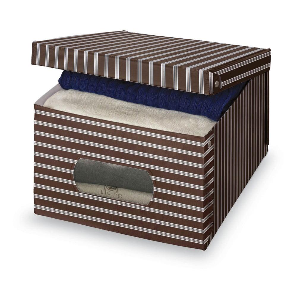 Hnědošedý úložný box Domopak Living, 24 x 50 cm