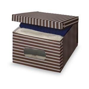 Hnědošedý úložný box Domopak Living, velký