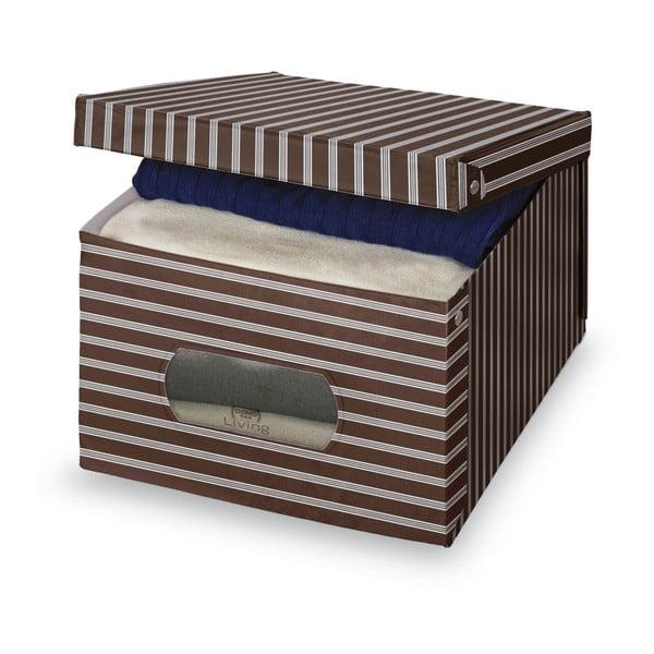 Brązowo-szare pudełko Domopak Living, 24x50 cm