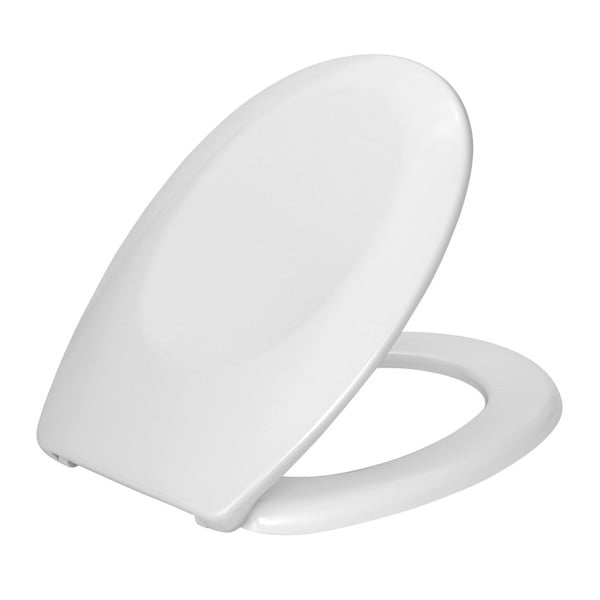 Bílé WC sedátko Wenko Bergamo, 44,4 x 35 cm