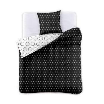Lenjerie din microfibră cu 2 fețe pentru pat de o persoană DecoKing Hypnosis Dark Night, 200 x 135 cm de la DecoKing