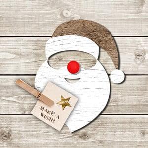 Balení 10 papírových ubrousků s vánočním motivem PPD Santa Red Nose