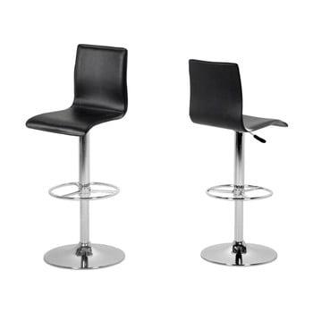 Set 2 scaune de bar Actona Aze, negru imagine