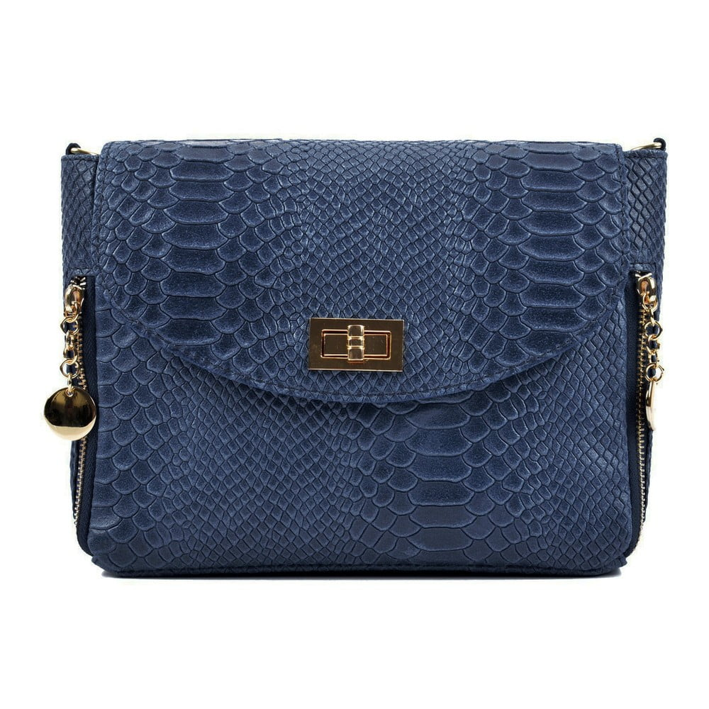 Modrá kožená kabelka Roberta M Misinato