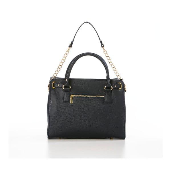 Kožená kabelka Federica Bassi Ginna, černá