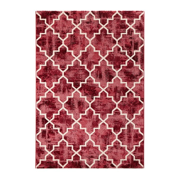 Červený koberec Mint Rugs Diamond, 133x195cm