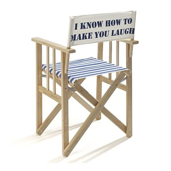 Skládací židle Director, modrá