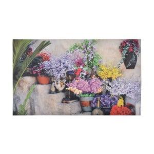 Podložka pod litinovou rohožku Esschert Design Flowers, 76,2 x 45, cm