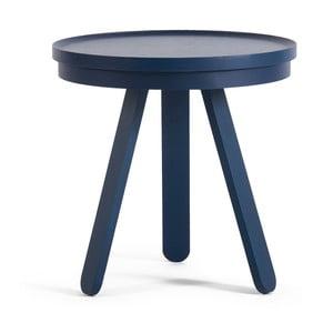 Modrý odkládací stolek s podnosem Woodendot Batea S
